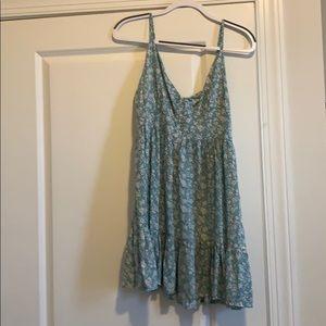 Zaful teal floral dress with adjustable straps